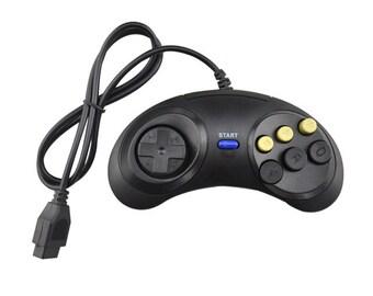 Sega Genesis Classic Generic Replacement Game Controller Gamepad