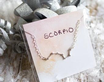 Scorpio Zodiac Constellation Necklace