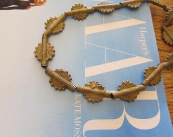 Sun Design, Brass Baule Beads, Akan, Ghana Brass Bead, Handmade Cast Bead, African Trade Bead, Tribal Bead, 5 Pcs