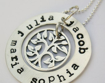 Tree of Life Necklace - Mother's Necklace - Personalized Mom Necklace - Custom Mommy necklace - Mommy tree of life - Mother's Day Gift