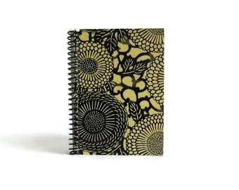 Japanese Chrysanthemums Notebook A6 Spiral Bound - Cute, Blank Sketchbook 4x6 Inches, Small, Back to School, Writing Journal, Gifts Under 20