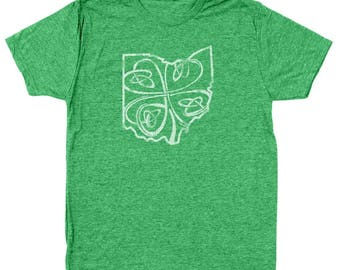 Ohio Shamrock Irish St Patricks Day Ireland Dublin Men's Tri-Blend T-Shirt DT0811