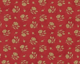 Moda WINTERGREEN Quilt Fabric 1/2 Yard By 3 Sisters - Crimson 44017 13