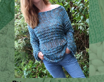Grunge Jumper Hand Knitting Pattern