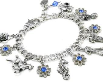 Starter Charm Bracelet with your choice of Charms of your choice, Build your own Bracelet, Stainless Steel Bracelet, Custom Charm Bracelet