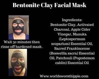 Activated Charcoal & Bentonite Clay Facial Mask