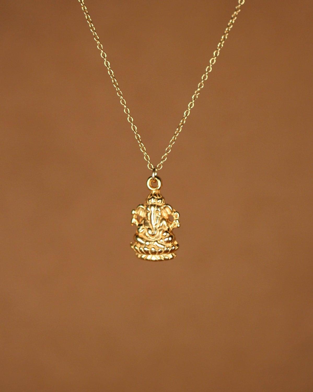 Ganesha necklace gold ganesha indian god ganesh yoga