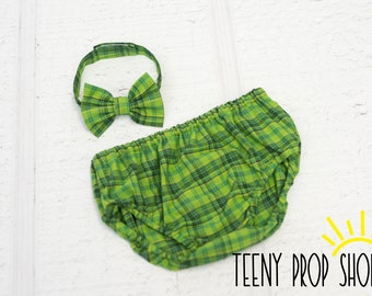 Baby Bow Tie and Diaper Cover in Plaid, Baby Boy Clothing, Baby Boy Cake Smash, Diaper Cover Birthday, Prop, Photography Prop