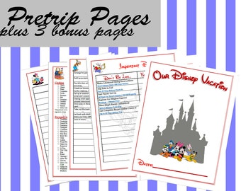 Pre-Trip Planning Pack Build Your Own Disney Binder / Planner for your Disney Vacation Printable
