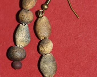 earrings ,clay d'egypte handmade individuel