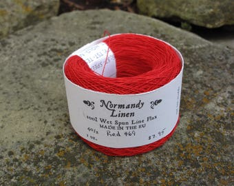 Red Normandy Linen 40/2 Thread