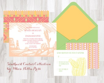 Southwest/Native/Cactus Wedding Invitations