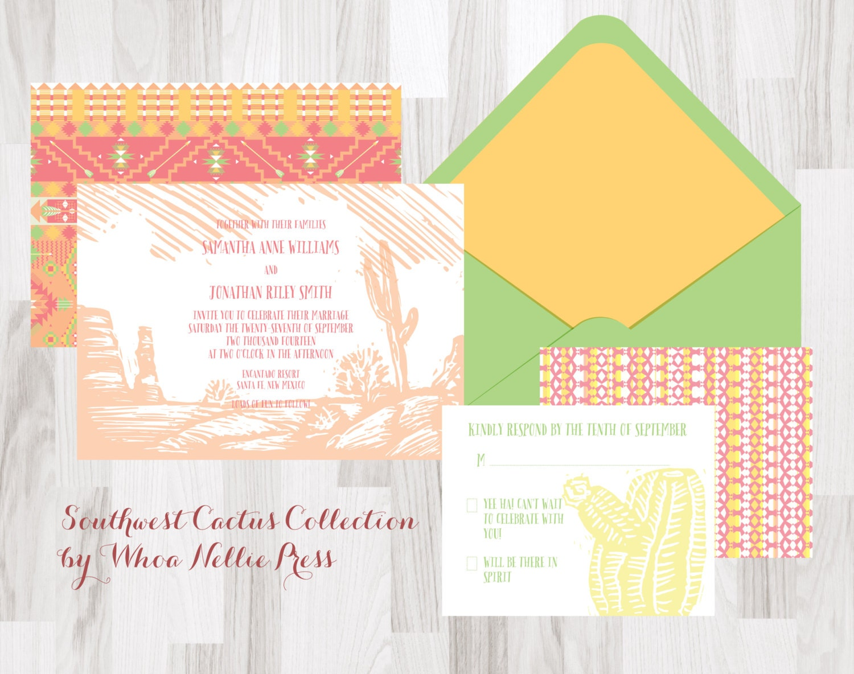 Native American Wedding Invitations: Southwest/Native/Cactus Wedding Invitations