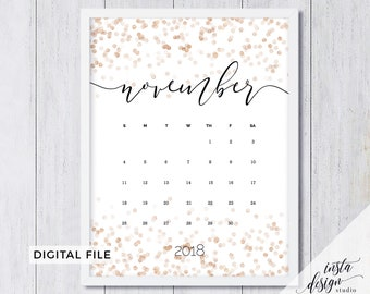 november 2018 printable pregnancy baby announcement calendar social media new year photo prop due date save the date custom date