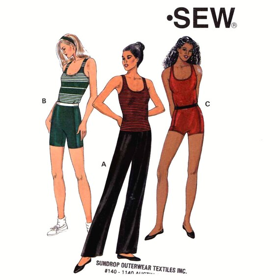 90s Athletic Shorts Top Or Dance Pants Sewing Pattern Yoga