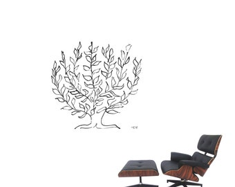 "Wall Art inspired by Henri Matisse ""La Platane"" tree XXL vinyl wall decal for your livingroom and bedroom wall art decor  (ID: 111043)"