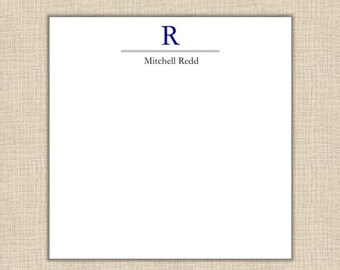 Personalized Stationery - Masculine Notepad