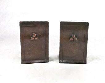 Arts and Crafts copper bookends Craftsman Studios Handmade Laguna Beach 1910s Bungalow Home