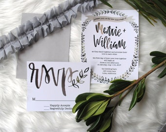 Greenery Wedding Invitation Suite