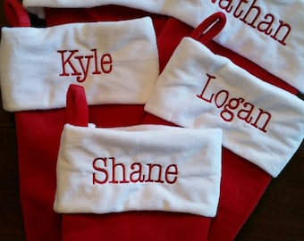 Plush Christmas Stockings- personalized free- Christmas Gift Wrapping available