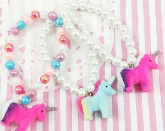 Unicorn Bracelet | Pastel Bracelet | Fairy Kei Bracelet | Kawaii Bracelet | Rainbow Bracelet | Decora Bracelet | Kids Bracelet