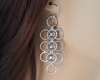 Celtic Wings Chainmaille Earrings, Chainmaille earrings, Chainmail earrings, Chain mail earrings, chain maille earrings