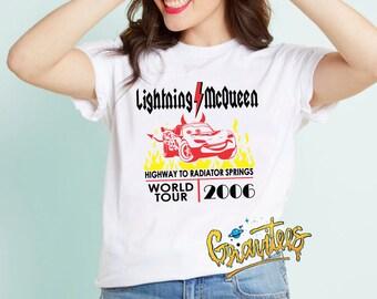 PREVIEW!*  Lightning McQueen Highway To Radiator Springs World Tour Shirt - Cars Shirt