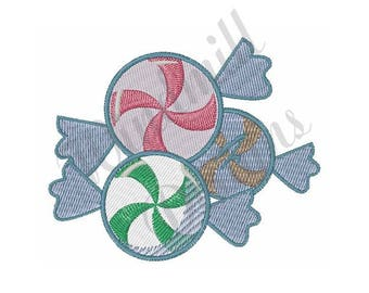 Peppermint Candies - Machine Embroidery Design
