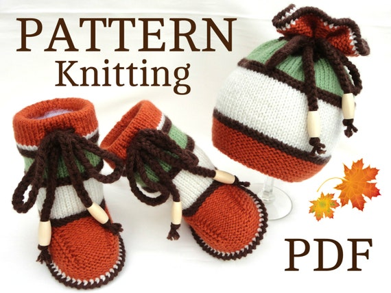 Knitting Pattern Baby Booties Baby Shoes Pattern Knit Baby