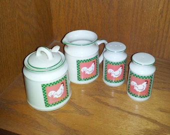 Made in Japan Creamer. Sugar Bowl, Salt & Pepper Shaker  c1960