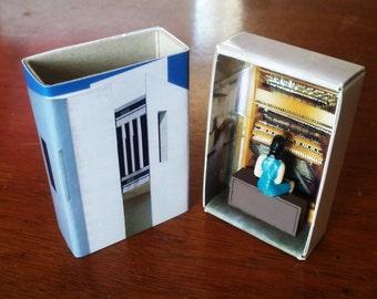 Matchbox Building: Matchbox Miniature of The National Carillon, Canberra, Australia.