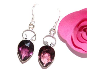 Earrings in amethyst and Sterling Silver 925 marked - after a beach