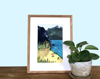 Shoreline, A4/A3 giclée illustration print