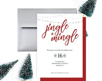 Holiday Party Invite (digital download)