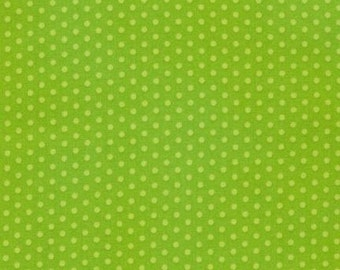 Spot On Lime Mini Dots on From Robert Kaufman Fabric's Spot On Collection - EZC-12873