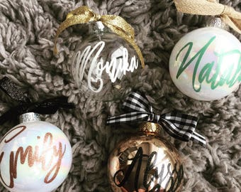 Personalized Name Ornament, Christmas Ornament