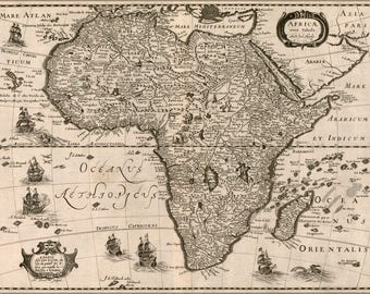 Poster, Many Sizes Available; Africae Nova Tabula Map Of Africa 1640