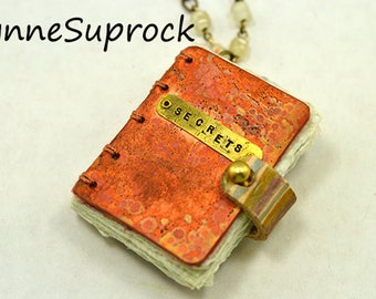 Miniature Mixed Metal Book With Brass Stamping 3