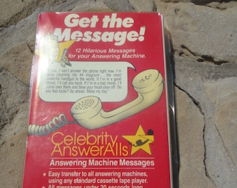 Vintage Funny Humor Answering Machine Cassette Tape 12 Hilarious Messages for your Answering Machine Tape New Celebrity AnswerAlls