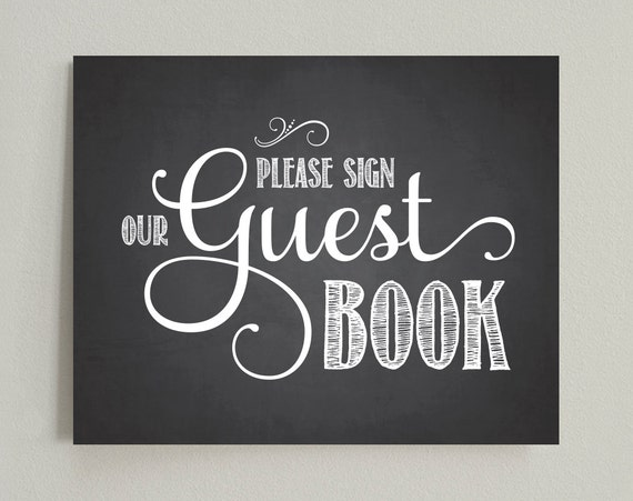 please sign our guest book wedding printable sign pdf
