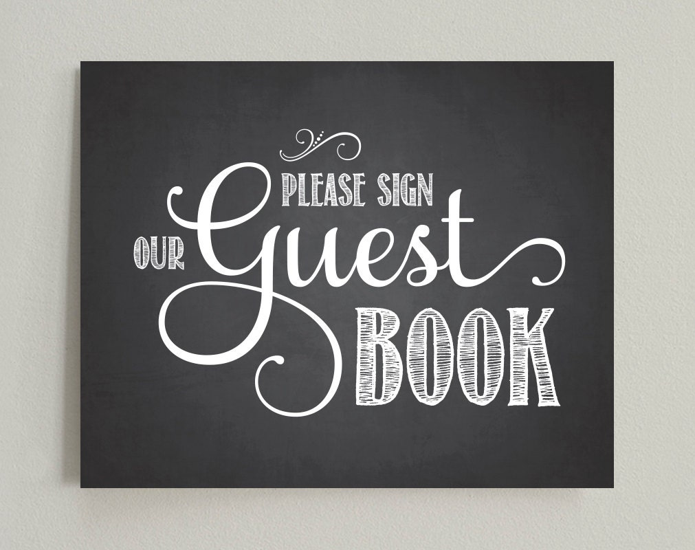please sign our guest book wedding printable sign pdf. Black Bedroom Furniture Sets. Home Design Ideas