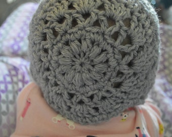 Beautiful baby bonnet-- photo prop, gift, coming home outfit