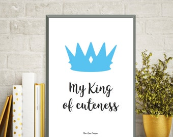 Wall art print, Baby illustration, Poster quote baby, Nursery art print, Children poster, Kids room decor, Baby gift, Quote baby, Art print
