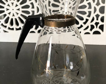 Vintage Tricolette Coffee Carafe