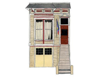 Town House, Castro District, San Francisco - Collectible Print