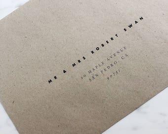Printable Envelope Template Modern Simple Minimalist Envelope Template Instant Download Printable Envelope DIY Envelope