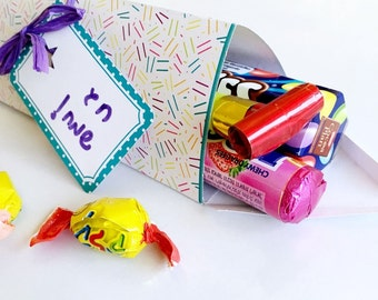 Printable favor box, Party favor box, Party favor for kid party favor, Diy gift box template, Printable gift box template, Instant download.