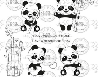 Panda hugs - IsabelCristinaStamps
