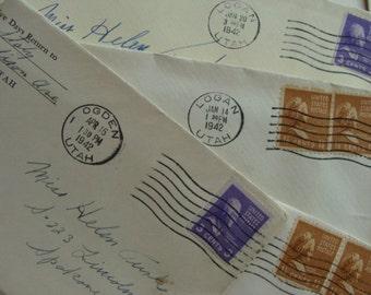 One Antique Handwritten WWII to  Helen Turk from Tom Staly