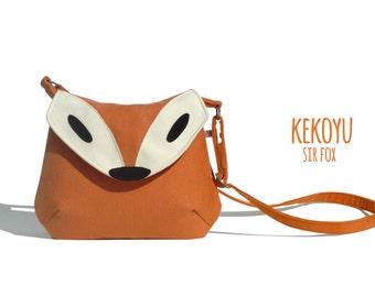 Crossbody Bag Sir Fox Small Cross Body Purse Handbag Fox Bag  Handmade Purse Small Bag 7 Colors